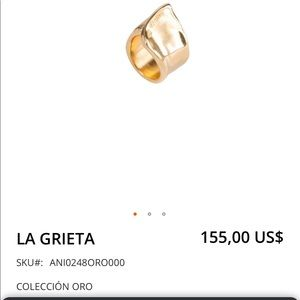 UNO de 50 Gold Plated LA GRIETA Ring